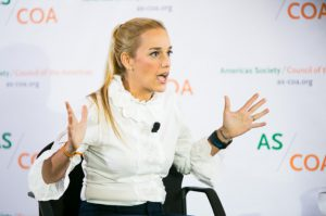 Lilian Tintori speaks at the AS/COA