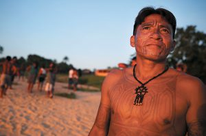 A Munduruku tribal leader. Photo: Maria Tama/Getty