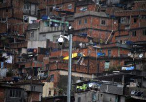 a surveillance camera in a favela in Rio de Janeiro